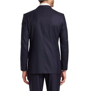 Canali Suits & Blazers - CANALI NAVY BLUE WOOL PINSTRIPED BLAZER SIZE IT54